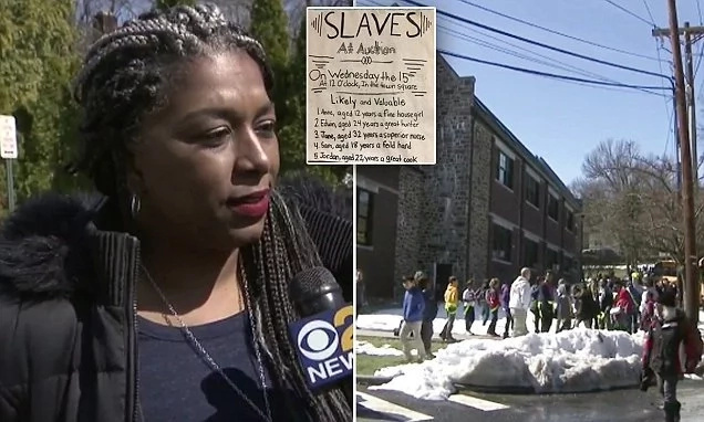 "See how parents enraged after 5th-grade black students ""sold"" to bidding white in mock slave auction (photos, video)"