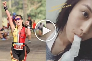 Kim Chiu suffers asthma attack after a successful duathlon race