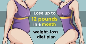 A weight-loss diet plan that can help to lose up to 12 pounds in a month