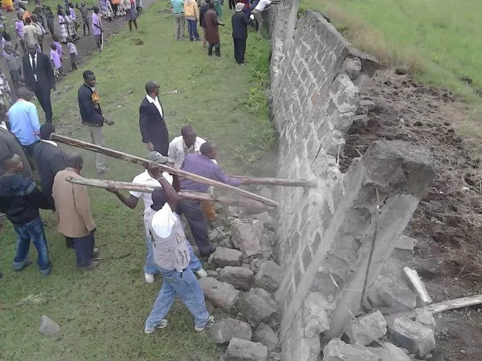 Nakuru primary school grounds grabbed by private developer