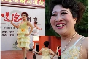 Grandmother makes incredible dress out of 3000 CONDOMS in support of AIDS awareness (photos)