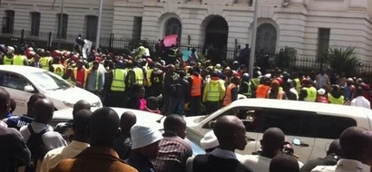 Look Out For Traffic! Boda Boda Drivers Hold Protest In Nairobi's CBD