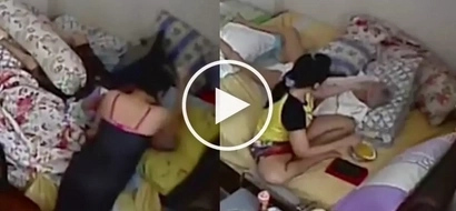 Daughter sees her 96-year-old mother getting brutally beaten up by a domestic helper!
