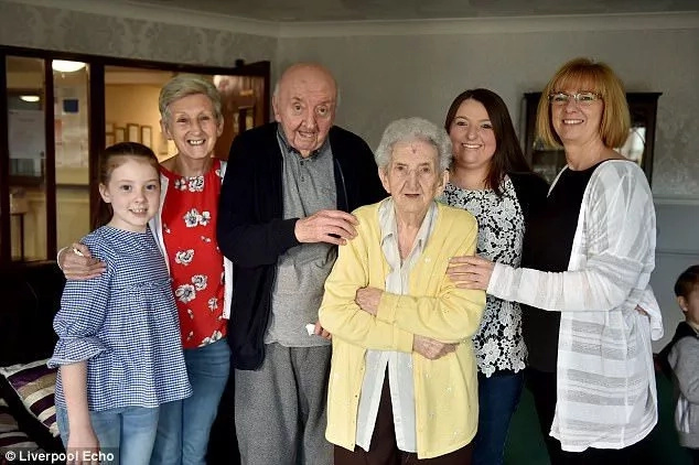 The rest of their family members visit them from time to time. Photo: Liverpool Echo