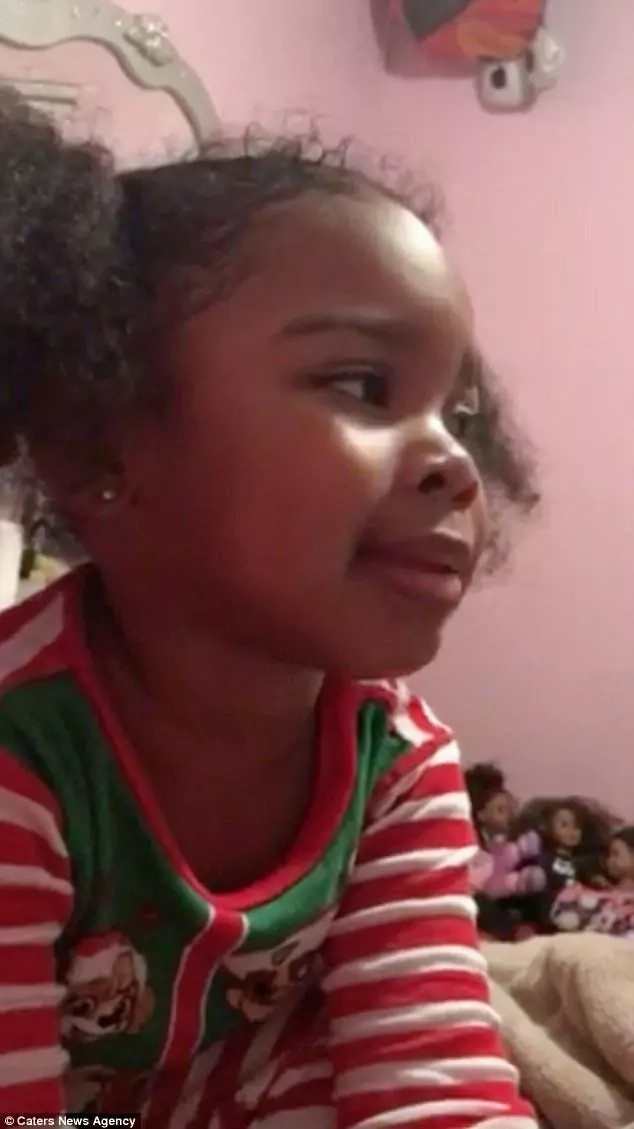 This 4-year-old girl sings her mother a song she composed herself