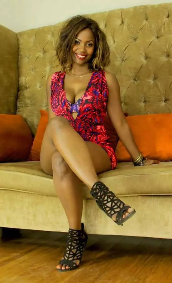 Former radio presenter, Sanaipei Tande shows off lots of skin in this tiny outfit
