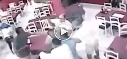 Instant karma! Vigilant cops arrest armed Pinoy customer for attacking waiter inside restaurant