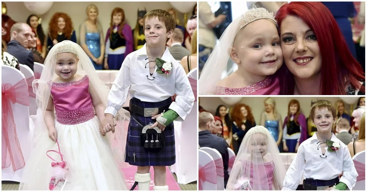Little 5-year-old cancer patient gets her dream wedding while she still breathes (photos)