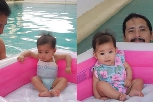 Robin Padilla and Baby Isabella bonding by the pool is too adorable not to share