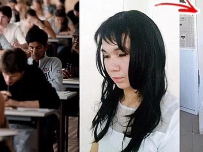 Boyfriend Wears Wig & Make-Up, Impersonates Girlfriend To Help Her Pass The Exam
