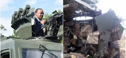 Badly damaged armoured police vehicle raises questions
