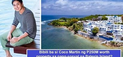 Yayamanin talaga! Level up to the max na si Coco Martin kung bibili siya ng P250M worth property sa Balesin Island
