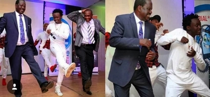 VIDEO: Watch Raila Odinga Dancing With Gospel Star Bahati