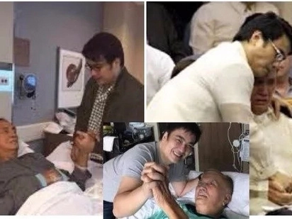 "Bong Revilla to Ramon revilla: ""Thank you very much for all your support. See you again tomorrow Daddy"""