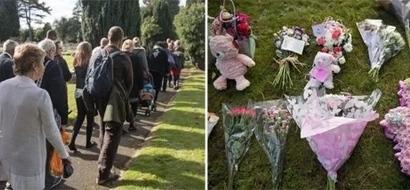 Cientos de personas asistieron al funeral de esta bebita anónima luego de que su madre la abandonara