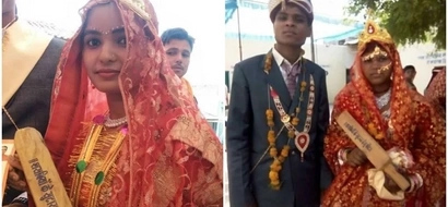 Police distribute 10.000 BATS to newly-wed women to beat their husbands as WEDDING GIFT (photos)