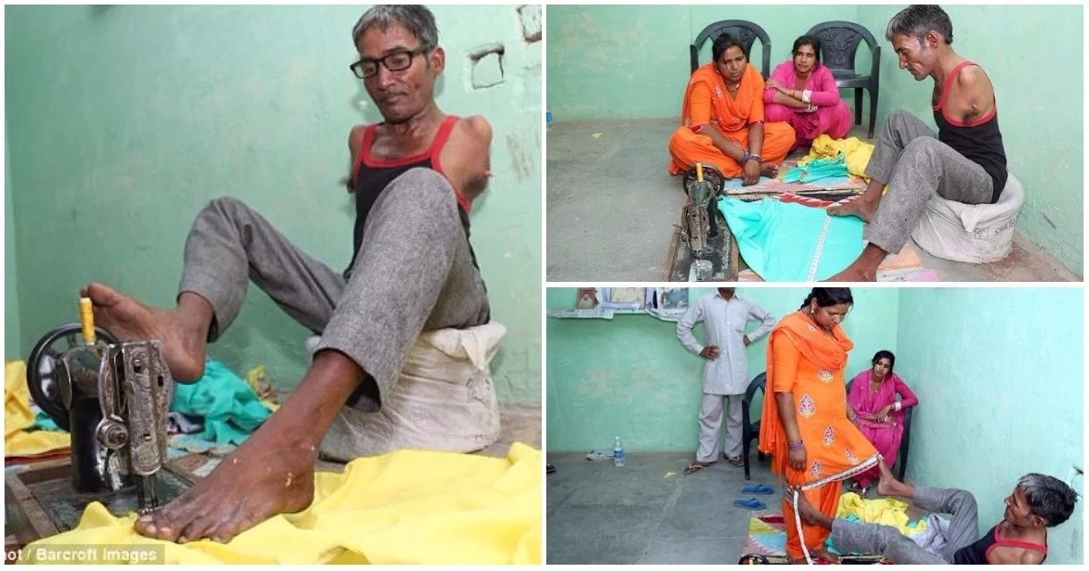 45-year-old man born without arms becomes professional tailor (photos)