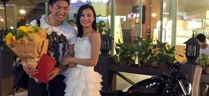 Did he say yes? Chinese woman gives expensive motorbike and property to her boyfriend as a proposal!