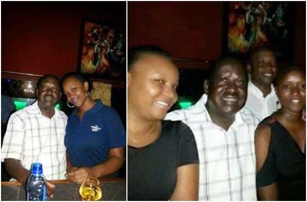 Picha ya Raila akiwa na dada mrembo kando yake yazua maswali