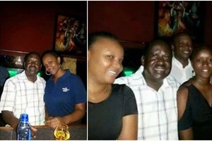 Raila's photo with hot lady 'while in Canaan' sparks mixed reaction