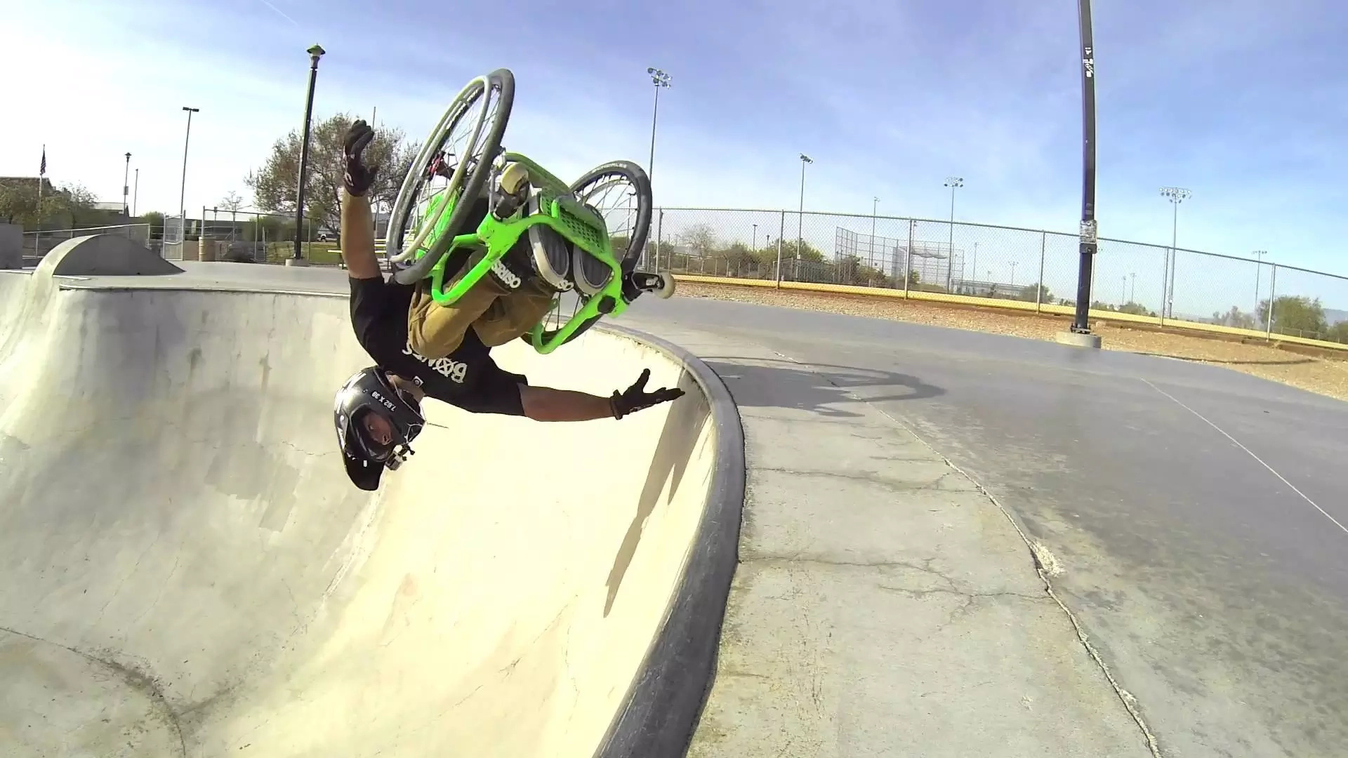 First double backflip in a wheelchair