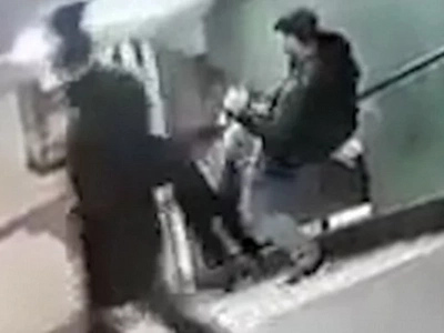 Video Shows A Woman Flying Down A Flight Of Stairs And Landing On Her Face After Being Kicked