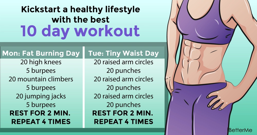 Kickstart a healthy lifestyle with the best 10 day workout