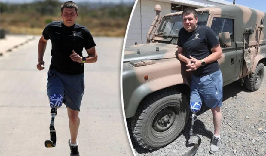 Read this inspirational story of a soldier amputee training despite his disability (photos)