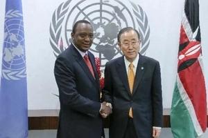 Details of UN Secretary General Ban Ki Moon's phone call to Uhuru Kenyatta
