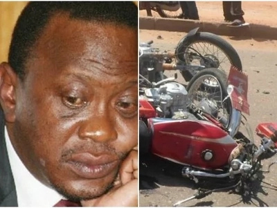 Aspirant tries to use boda boda to access his private chopper, gets injured in freak accident
