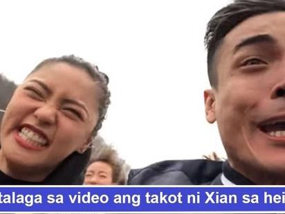 Nagtagumpay siya! Kim Chiu tuwang-tuwa na napasakay ang takot sa heights na Xian Lim sa roller coaster sa South Korea