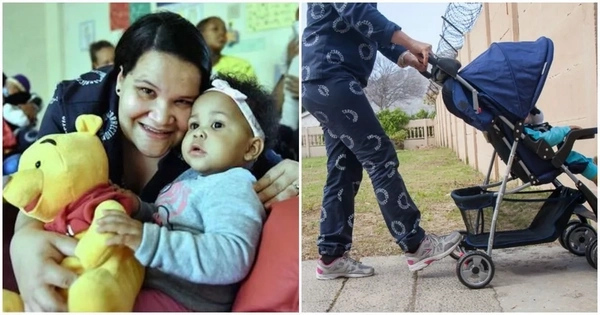 See how mother, 30, spent Mother's Day with her 10-month-old baby in PRISON (photos)