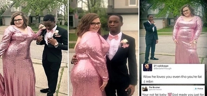 God made you for me! Man defends prom date, says how perfect she is after she was FAT-SHAMED (photos)