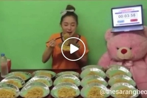 Meet canton girl! Pretty Pinay shocks netizens after finishing 20 packs of pancit canton in just 43 minutes