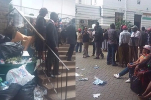 Mike Sonko supporters dump garbage at Kidero's door as battle for Nairobi hots up
