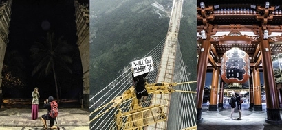 "Photographer climbs highest bridge in the world to ask for girlfriend's sweetest ""yes"""