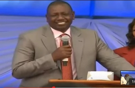 Ruto forced to do this at a school's fundraising