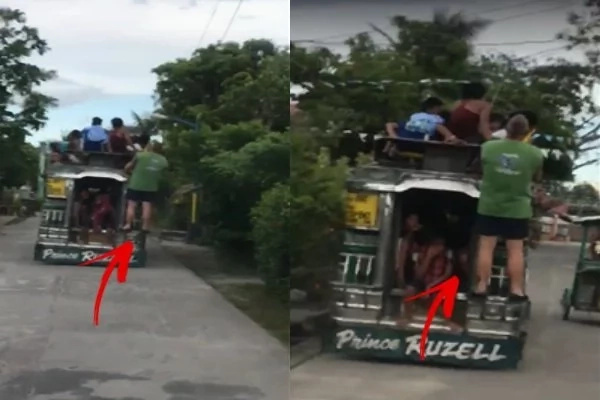 Aussie Guy Having A Blast In His First Jeepney Ride. The Man Was Caught On Tape Enjoying The Experience The Way Should.