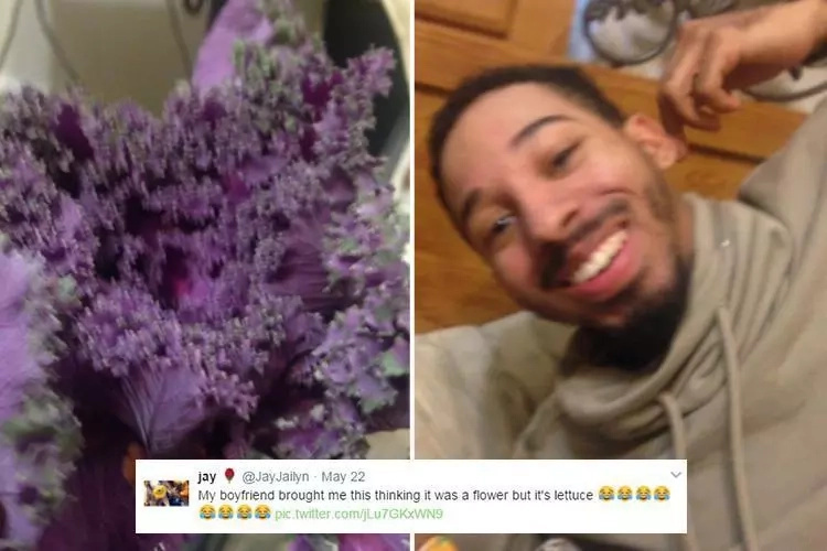 This caring guy buys his girlfriend flowers, but got confused and bought her this instead