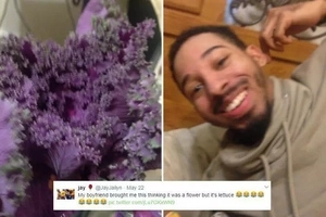 LOL! Romantic guy buys his girlfriend flowers, but got confused and bought her THIS instead (photos)