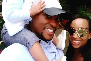 After hiding her son's face for a year, Janet Mbugua shows him off to the world (photos)