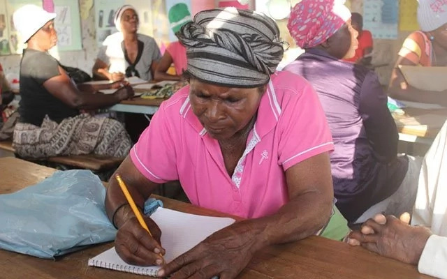 Mbuya Tatsawani Nyati, 69, is determined to learn how to read and write. Photo: Herald.co.zw