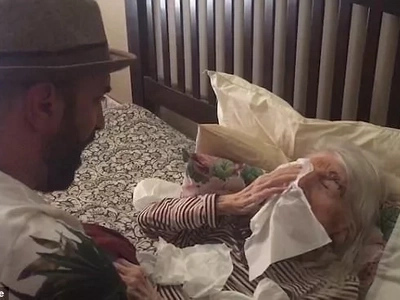 Emotional moment as man serenades his grandma on her 98th birthday