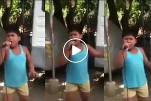 """Viral Pinoy kid powerfully singing """"Unchained Melody"""" wows netizens. Oh my love, my darling!"""