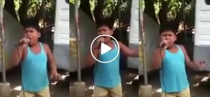 "Viral Pinoy kid powerfully singing ""Unchained Melody"" wows netizens. Oh my love, my darling!"