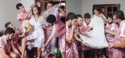"""Bride-To-Be Without Any Closest Girl Friends, Had Own Brothers Proxy As Her """"Bridesmaids"""""""