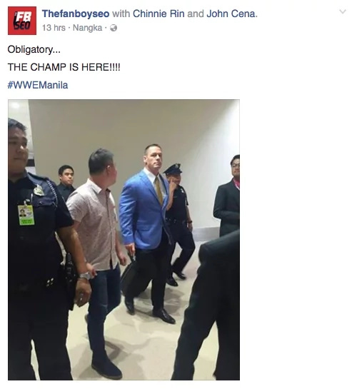 John Cena arrives in Manila for WWE Live 2016