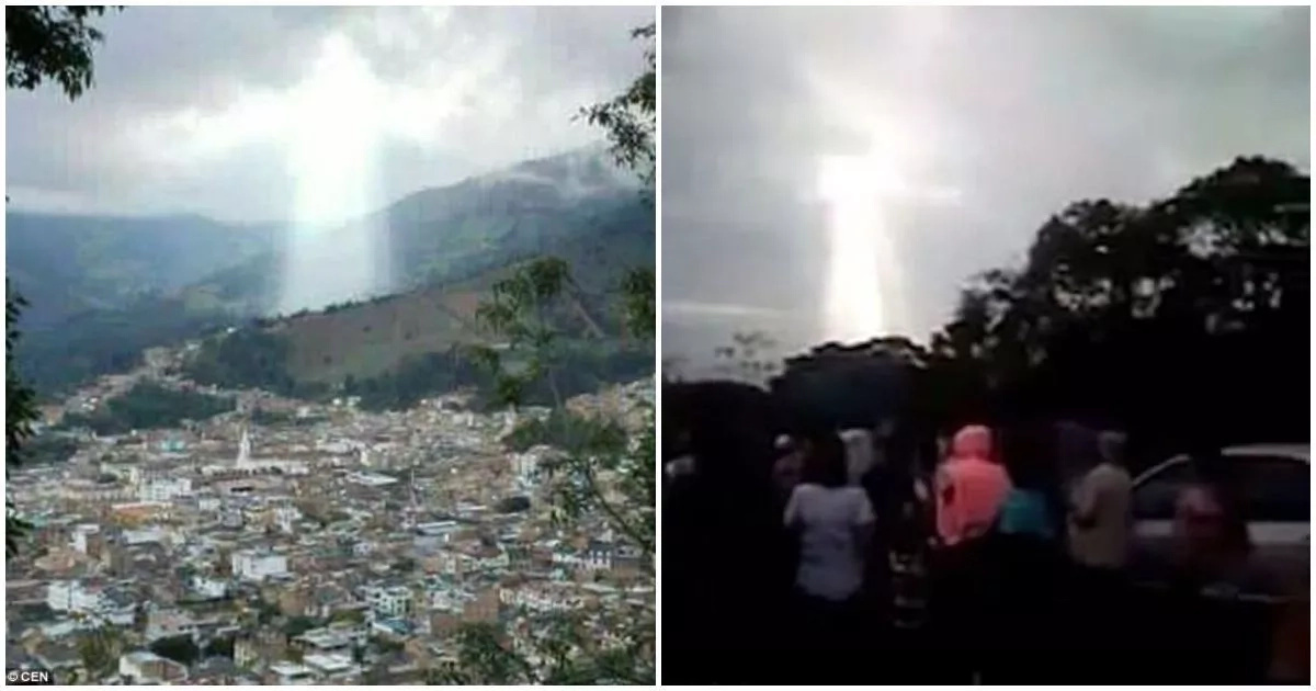 Again! Formation of Jesus Christ allegedly appears in the sky (photos)