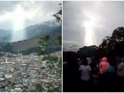Astonishing cloud formation takes on figure locals believe is of JESUS (photos)