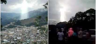 Figure of Jesus! Incredible cloud formation takes on shape locals believe is of JESUS (photos)